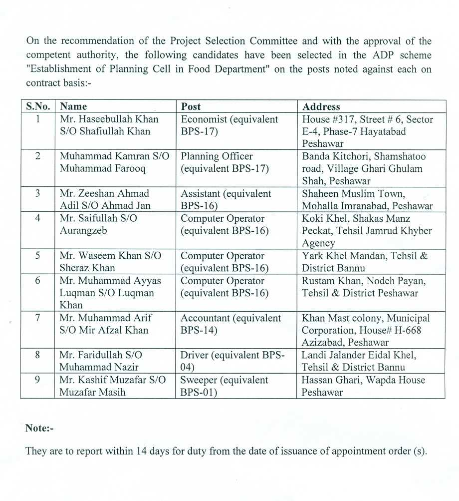 Candidates_Selected_in_Estiblishment_of_Planning_Cell_in_Food_Department