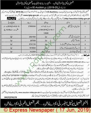 Tehsil-Municipal-Administration-Nowshera-Auction-Notice