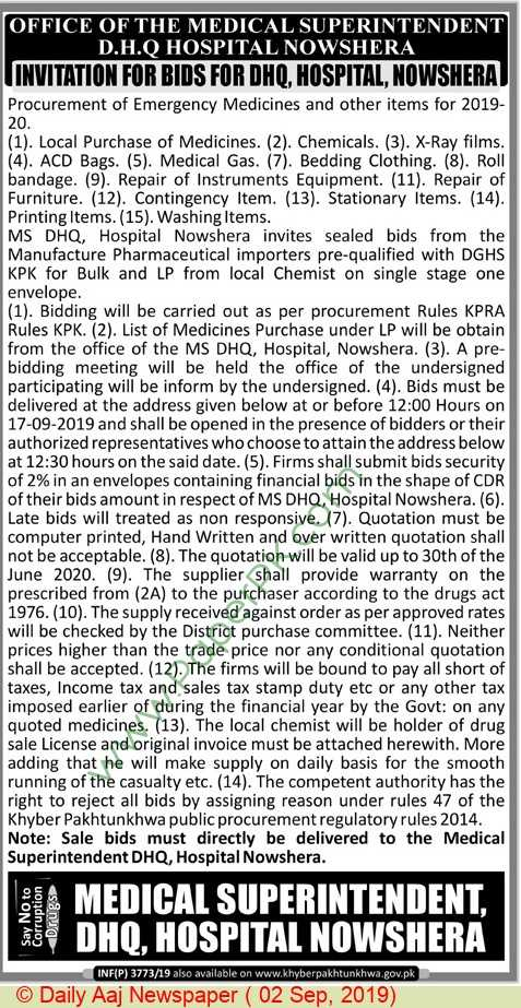 Dhq-Hospital-Nowshera-Tender-Notice