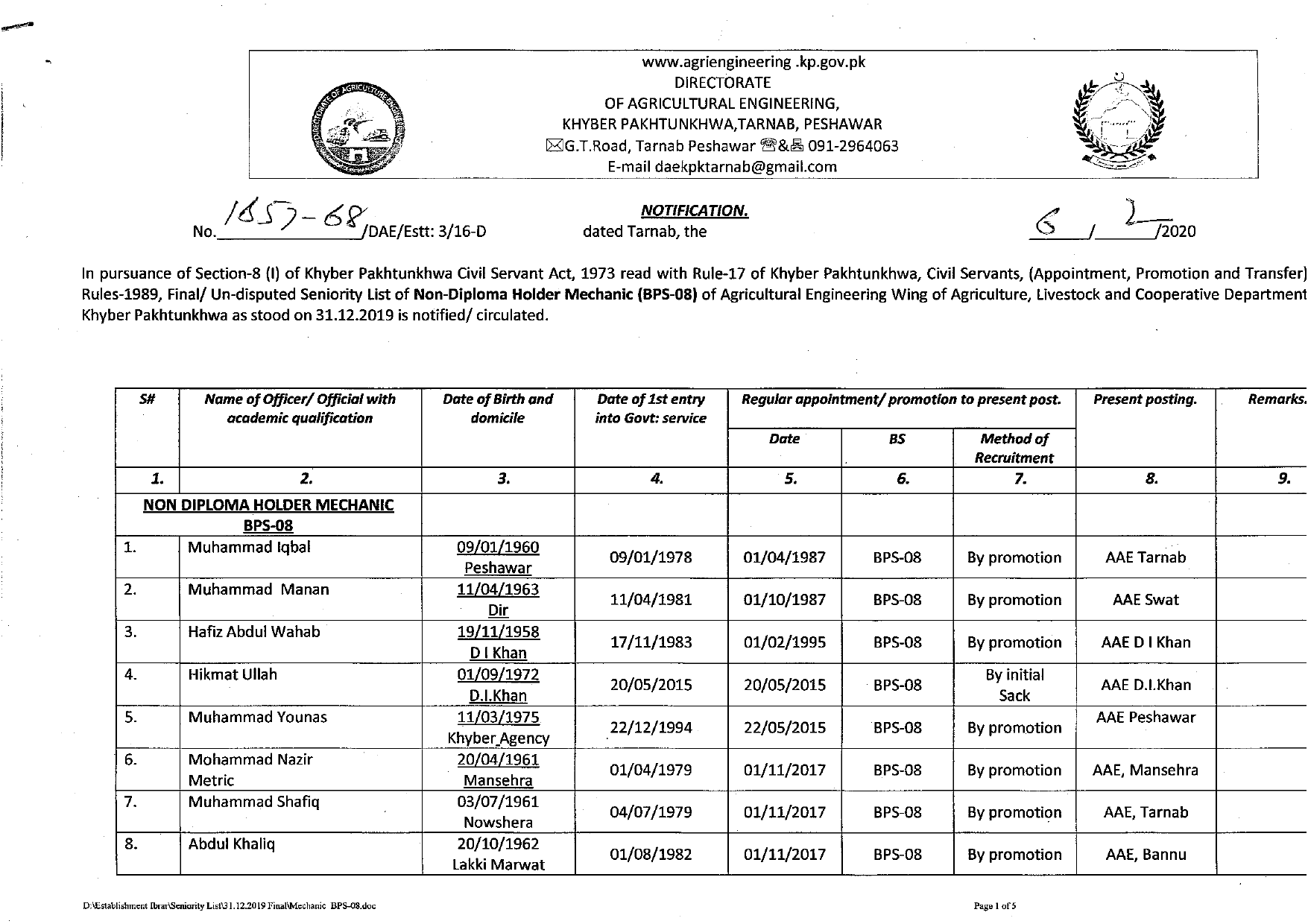 Notified_Seniority_List_Non-Diploma_Hodler_Mechanic_Page-1